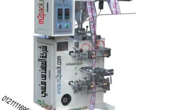 ماكينة تعبئة السوائل و السوائل اللزجة موديل ام توباك 505 ماركة المهندس منسي لحام ثلاثي و لحام رباعي